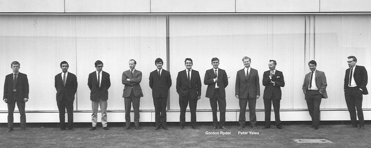 Our founders, Gordon Ryder and Peter Yates